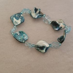 Polygon Beaded Bracelet